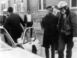 Black Panther Chauncey Booker being arrested at Cole Junior High School