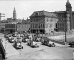 Motor equipment, City and County of Denver. Market St. bridge - City Hall in background