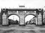 Arch at Montrose Gunnison tunnel opening, September 23, 1909 : Uncompahgre project, Colorado
