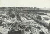 Wreckage, D.& R.G. repair yard, roundhouse in background