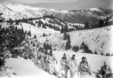 "10th Mountain Division troops in ""whites"""