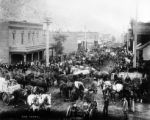 Ore teams - morning scene in Idaho Springs, Colorado