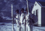Three skitroopers at Camp Hale