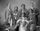 Group of Ute Woman and White Men
