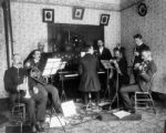 Local musical group (inside Cooper home), Idaho Springs, Colorado : Ralph Hansen, musican (sic)