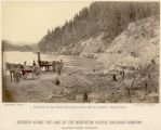 Grading on Big Bluff, three miles above Heron's Rapids, Clark's Fork