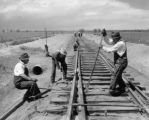 Railroad construction at Lowry