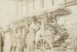 Horse-drawn tour bus