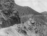 Excavated cliff thru which canyon road was constructed, Uncompahgre Valley project, Colo.
