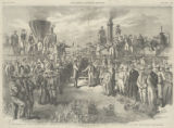 The completion of the Pacific Rail Road the ceremony at Promontory Point [sic], Utah