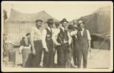Men in front of circus tents