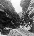 Railroad track in Clear Creek Canyon