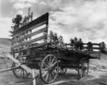 An old wagon on the Hornbeck Homestead at Florissant Beds National Monument