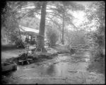 Tenting beside the brook, Platte Cañon, C. & S. Ry.