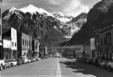 Telluride, Colorado, view eastward along Main Street