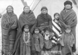 Crow Dog and family at home, taken in hostile Indian camp, Jan. 16, '91, near Pine Ridge, S.D.