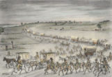 First wagon train over Oregon Trail, 1830