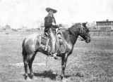 Johnny Baker on horseback