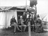 William Cody with group in front of tent