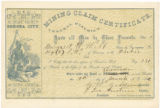 Mining claim certificate : know all men by these presents, that I, Margaret H. Webb claim ... on...