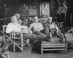 Relaxing at the Grand Lake Lodge Dr. Phil Hartman, Frank Johns (Denver Dry Goods), Paul...