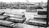 D. & R.G. freight yards looking northwest from viaduct and D. & R.G. round house and Main...