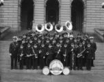 Junior Denver Police Band capitol grounds