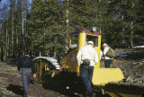 Snowcat having problems on the way to Owl Creek cabin 87th Inf. Detachment. Sun Valley.