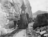 Denver Leadville & Gunnison the old South Park Line Locomotive No. 197 and excursion passenger...