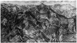 Photograph of an illustrated relief map of Colorado Springs & Cripple Creek District Railway...