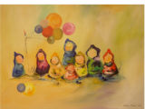 [Children with balloons] [art original].