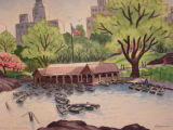 Boat house - Central Park[art original].