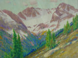 Autumn snow in the Arapahoe Peaks, Colorado, from near timberline [art original].