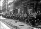 Denver received its first shipment of Cadillacs - parked in front of the St. James Hotel at 15th...