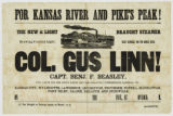 Col. Gus Linn! : for Kansas River and Pike's Peak!