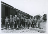 Military duty in the railroad yard at Fort Logan, Colorado