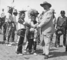 Buffalo Bill with Native American boys