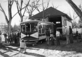 First day of operation of car no. 21 on the Fort Collins Municipal Railway