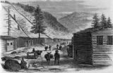 Street in Gregory's Gulch, Pike's Peak from sketch made on the spot, expressly for Frank Leslie's...