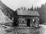 Original Court House located near Silverton Northern RR tracks, early 1880.