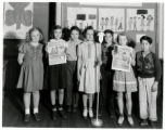Mitchell School students put on a radio program
