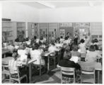 Stedman School students in library