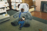Decker Branch teddy bear and boy