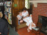 Decker Branch woman reading to child
