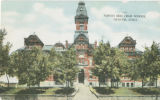 Postcard of old North High School Building