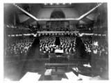 An interior picture of the congregation of Trinity United Methodist Church in Denver, CO. at 18th...