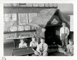 Alcott Elementary School students with Japanese Hut