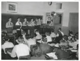 South High School brass band in classroom