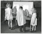 Edison School kindergarten students painting