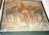 Winks Lodge: Painting of three men and horses